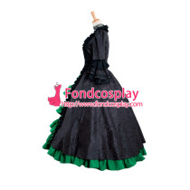 Victorian Rococo Medieval Gown Ball Gothic Evening Dress Cosplay Costume Custom-Made[G885]