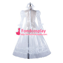 Sissy Maid Clear Pvc Dress Lockable Uniform Cosplay Costume Tailor-Made[G2210]