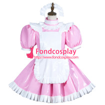 Sissy Maid Pvc Dress Lockable Uniform Cosplay Costume Tailor-Made[G3774]