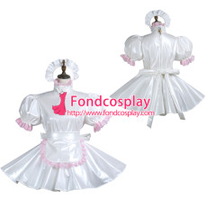 Sissy Maid Pvc Dress Lockable Uniform Cosplay Costume Tailor-Made[G3744]