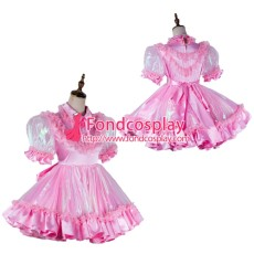 Lockable Sissy Maid Satin-Organza Dress Outfit Tailor-Made[G2018]
