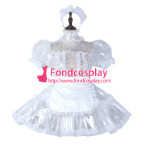 Sissy Maid Clear Pvc Dress Lockable Uniform Cosplay Costume Tailor-Made[G2297]