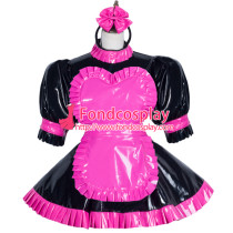 Sissy Maid Pvc Dress Lockable Uniform Cosplay Costume Tailor-Made[G3751]
