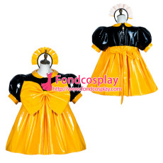 Sissy Maid Pvc Dress Lockable Uniform Cosplay Costume Tailor-Made[G3757]