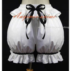 White Gothic Lolita Punk Bloomers Cotton Pants Have A Bowknot Custom-Made[G586]