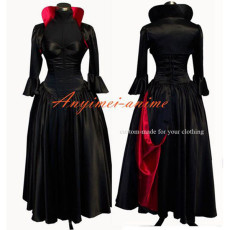 O Dress The Story Of O With Bra Black Satin Dress Cosplay Costume Tailor-Made[G530]