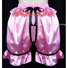 Pink Gothic Lolita Punk Bloomers Satin Pants Cosplay Costume Custom-Made[G591]