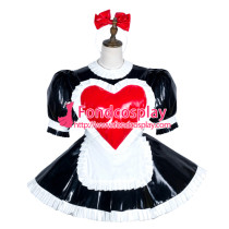 Sissy Maid Pvc Dress Lockable Uniform Cosplay Costume Tailor-Made[G3750]