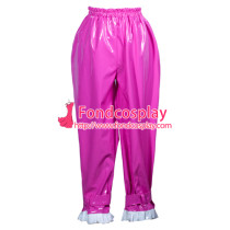 Sissy Maid Pvc Pants Lockable Uniform Cosplay Costume Tailor-Made[G3775]