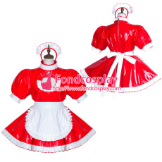 Sissy Maid Pvc Dress Lockable Uniform Cosplay Costume Tailor-Made[G3756]