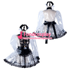 Sissy Maid Clear Pvc Dress Lockable Uniform Cosplay Costume Tailor-Made[G2295]