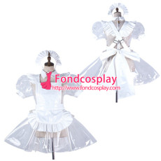 Sissy Maid Clear Pvc Dress Lockable Uniform Cosplay Costume Tailor-Made[G2191]