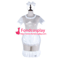 Sissy Maid Clear Pvc Dress Lockable Uniform Cosplay Costume Tailor-Made[G2323]