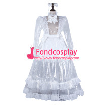 Sissy Maid Clear Pvc Dress Lockable Uniform Cosplay Costume Tailor-Made[G2305]