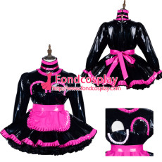 Sissy Maid Pvc Dress Lockable Uniform Cosplay Costume Tailor-Made[G3808]