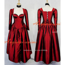 Sexy Gothic Lolita O Dress The Story Of O With Bra Satin Maid Dress Cosplay Costume Custom-Made[G606]