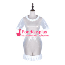 Sissy Maid Clear Pvc Dress Lockable Uniform Cosplay Costume Tailor-Made[G2322]