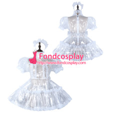 Sissy Maid Clear Pvc Dress Lockable Uniform Cosplay Costume Tailor-Made[G2296]