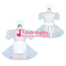 lockable clear PVC sissy maid dress cosplay unisex Tailor-made[G3895]