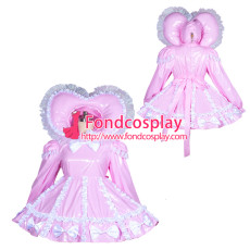 adult sissy baby Maid PVC Dress Vinyl lockable TV Unisex Tailor-made[G3900]