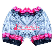 clear PVC sissy maid bloomers/knickers/ unisex Tailor-made[G3897]