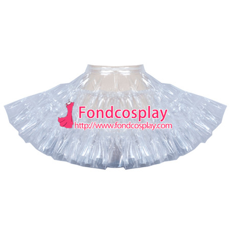 clear PVC petticoat underskirt sissy maid skirt tailor-made [G3909]