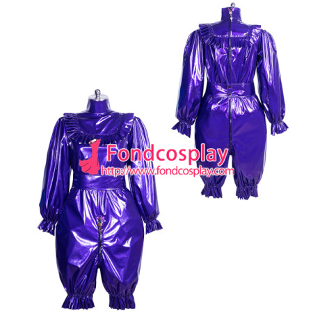 lockable PVC jumpsuits adult sissy baby Unisex cosplay costume Tailor-made[G3911]