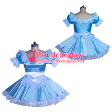 blueSatin Sissy Maid Dress Unisex CD/TV Tailor-Made [G3930]