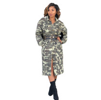 Military camouflage coat( included belts)