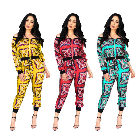 Printing Leisure Sports Two-piece Set
