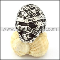 Stainless Steel Bandage Skull  Ring r000699