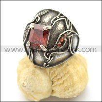 Vintage Stone Stainless Steel Ring r002599