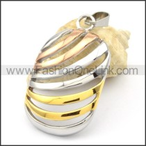 Beautiful Ring Stack Design Stainless Steel Pendant  p000289