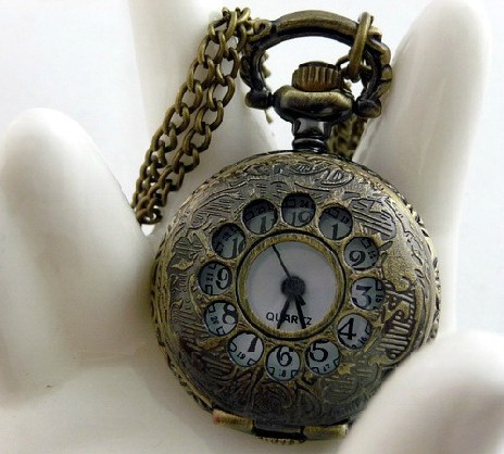Small Vintage Round Pocket Watch Chain PW000063