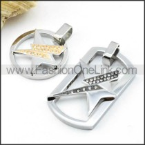 Exquisite Stainless Steel Couple Pendants p000053