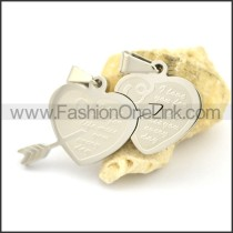 Delicate Stainless Steel Couple Pendant   p002415
