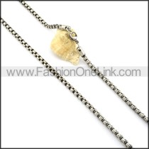 Succinct Staming Necklace n000348