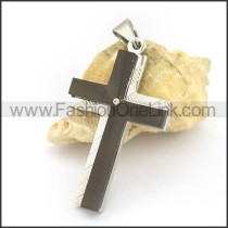 Delicate Stainless Steel Cross Pendant   p002430
