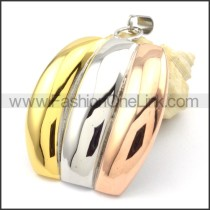 Beautiful Ring Stack Design Stainless Steel Pendant  p000292