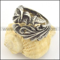 Vintage Stainless Steel Ring r001379