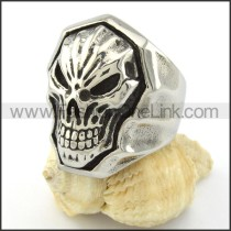 Stainless Steel Devil Skull Ring r000832