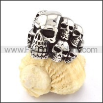 Stainless Steel Fashion Skull Ring  r000514
