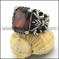 Exquisite Vintage Staninless Steel Stone Ring  r003451