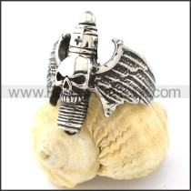 Good Selling Stainless Steel  Skull Ring r000839
