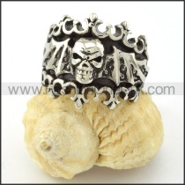 Stainless Steel Bat Skull Ring r001131