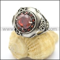 Vintage Stone Stainless Steel Ring r002601