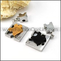 Exquisite Stainless Steel Couple Pendants p000062