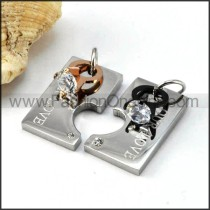 Exquisite Stainless Steel Couple Pendants p000059
