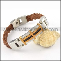 Fashion Black Leather Bracelet b000450