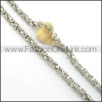 Silver Stamping Necklace    n000401